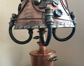 Steampunk Handmade Funk it up Lampshade