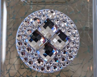 SWAROVSKI CHESSBOARD Crystals with Clear Stones  PopSocket