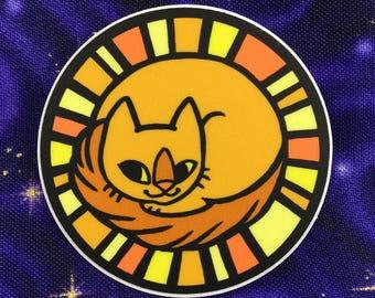 Sun Kitten Vinyl Sticker