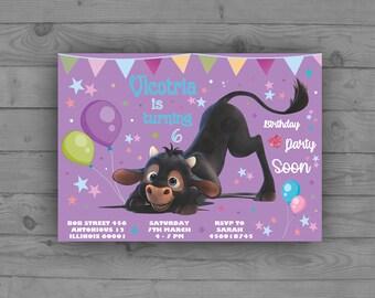Ferdinand Invitation, Ferdinand The Bull Birthday, Ferdinand Party, Ferdinand Birthday Invitation, Ferdinand Birthday, Cute Bull Invitation