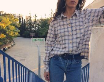 Vintage cotton plaid shirt