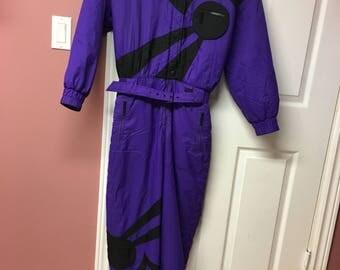 Vintage Snowsuit - purple, sz m - mint condition