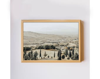 Travel photography Tuscany Italy countryside photo home decor original photo art print downloadable printable wall art