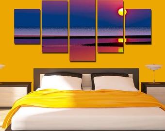 Beach canvas nature canvas Sunset Poster canvas home art wall decor