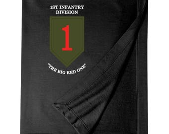 1st Infantry Division Embroidered Blanket-3327