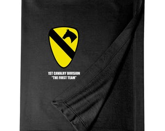 1st Cavalry Division Embroidered Blanket-4171