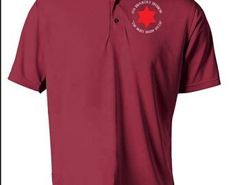 6th Infantry Division Embroidered Moisture Wick Polo Shirt -6219