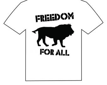 lion . freedom for all