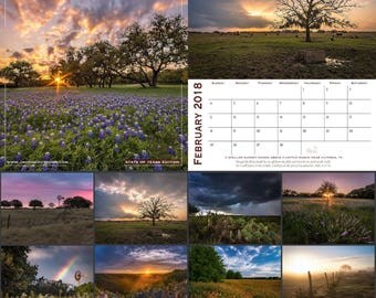 Texas Landscapes Calendar 2018