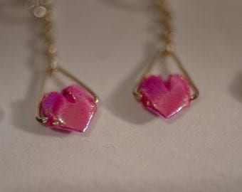 Origami ⋆ heart earrings
