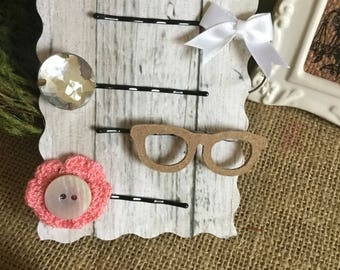 Vintage inspired Pink bobby pins