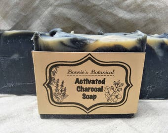 Activated Charcoal Soap / Handmade Soap / Cold Process Soap / Organic Soap / Natural Soap / Vegan Soap