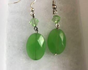 Green Hanging Earrings