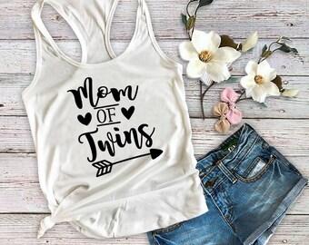 Mom Of Twins Shirt, Mom Shirt, Mom of Twins Tank Top, Twin Mom, Shirt For Mom, Twin Mama, Mom Life