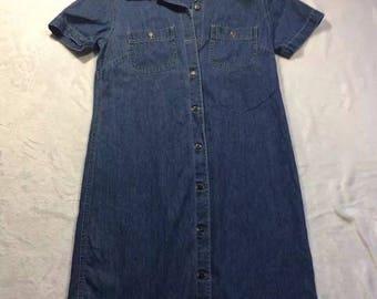 vintage 90s denim dress