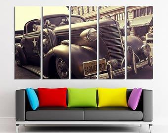 Retro car art Retro car photo Retro car wall art Retro car canvas Retro car print Retro car poster Old car wall art Old car canvas Canvas