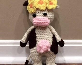 Bessie the Flower Child Cow Stuffed Animal