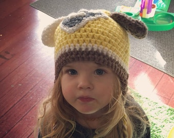 Rubble Paw Patrol crochet hat