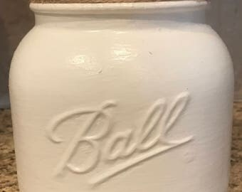 Chalk Painted Half Gallon Mason Jar