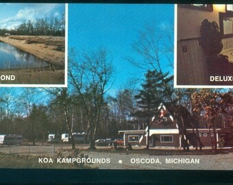 KOA Kampgrounds Oscoda Michigan Collage Photo Postcard