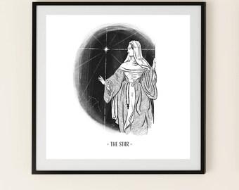 The Star - Tarot Art Print - Aquarius