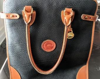 Dooney and Bourke Black All Weather Leather Handbag