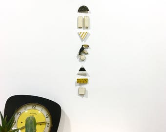 Toucan wall jewelry / / yellow, black