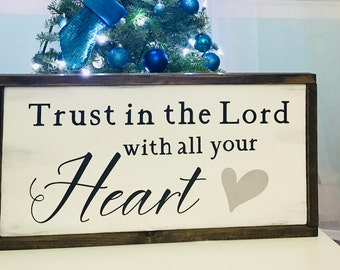 Trust in the Lord | Inspirational Wood Signs (3 sizes)