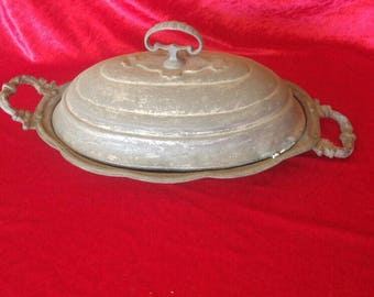 Old Style Antique Hand Made Rare Ottoman Design Brass Sugar Basin  #1555