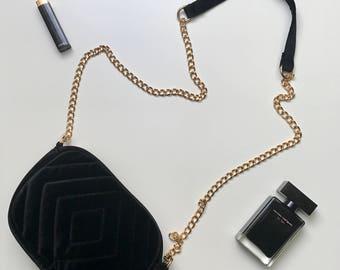 Ladies bag-shoulder bag-chic-velvet-black