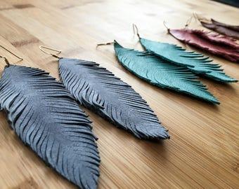 Single Feather Earrings