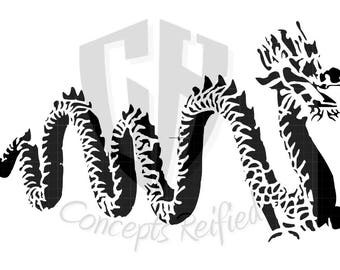 Chinese New Year Dragon Stencil - Multiple Sizes to Choose From