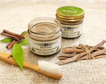 Homemade with LOVE and Natural EDIBLE TOOTHPASTE by SharmenHope, 2 fl oz
