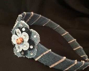 Denim Sparkle Headband