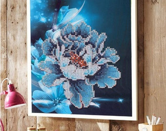 5D DIY diamond flower pattern diamond needle embroidery cross stitch picture home decoration