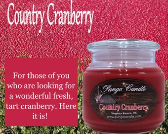Country Cranberry Scented Jar Candle (16 oz.)!