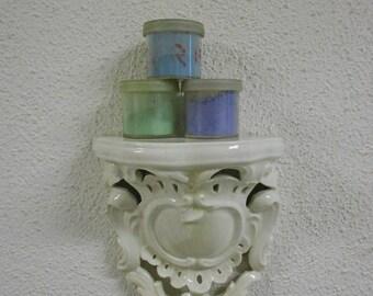 Wall shelf, ceramic, mould, vintage Italian