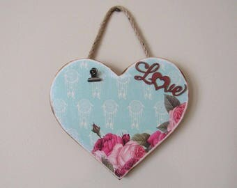 Heart shaped 4 x 6  or 4 x 4 picture holder