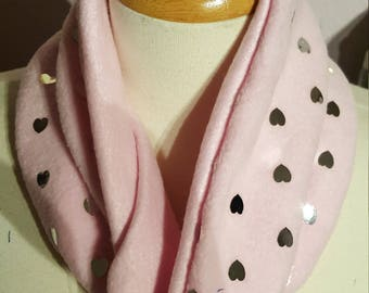 Pink Heart Neck Warmer
