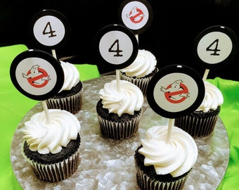 Ghostbusters themed Cupcake toppers