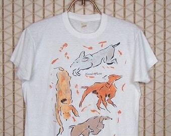 Kate Bush, SCREEN STARS brand T-shirt, vintage and MEGA rare Hounds of Love, white tee shirt, 1980s, soft and thin
