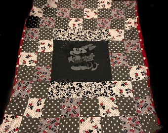 Minnie & Mickey Mouse Quilt Bkanket