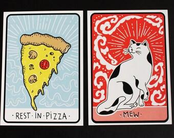 2 Postcards Set