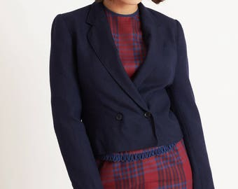 Equestrian Style Navy Jacket