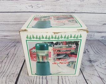 Vintage Tree Fountain Christmas Tree Automatic Waterer  w/ Box Shuts off Automatically Keeps your Tree Fresh December Party Happy Holidays