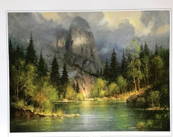 "G. Harvey Limited Edition Lithograph ""Yosemite's Sentinel"""