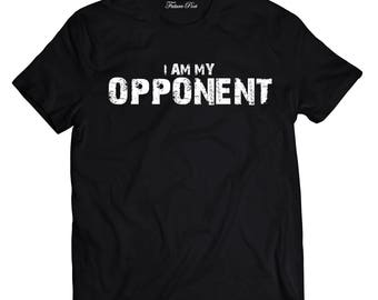 Men's Black T-shirt with empowering quote (Opponent)