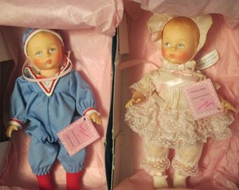 Little Genius Boy and Girl Dolls by Madame Alexander apx 6""