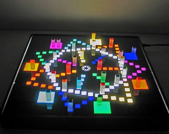 3DCUBEGAMES Bright BG-7, man don't annoy you for 7 people lit, lightbox, game board lit, game lit