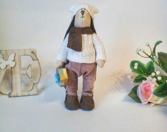 Зайка Тильда interior doll handmade doll tilde textile  dolls for girls dolls toys for children handmade toys gift for children